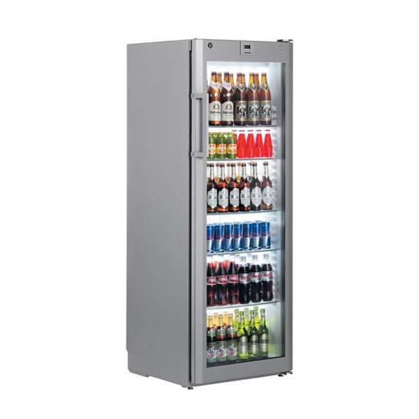 Getränkekühlschränke  Getränkekühlschrank Flaschenkühlung für Gastro mit Glastüren